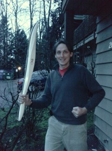 Me, with a real Olympic torch