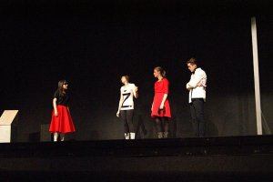 Waiting for Twist Stiffly, a play about a Sci-Fi film, but not actual sci-fi. Performed by Tualatin High School  2012