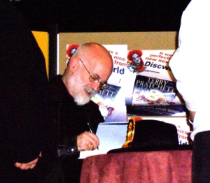 One of my literary heroes that I HAVE met - Terry Pratchett, at a book signing in Winchester, 2006