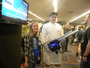Doctor Horrible meets his nemesis...or biggest fan