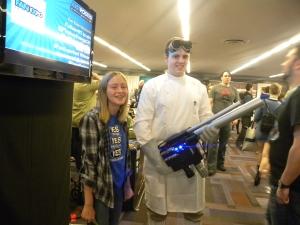 Doctor Horrible meets his nemesis...or biggest fan
