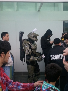 Yes, the ears are funny, but that's an MA5B Assault Rifle on his back....