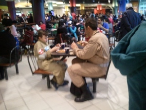 Even Ghostbusters need a lunchbreak...