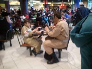 Even Ghostbusters need a lunchbreak...