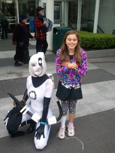 GLaDos - the best interpretive costume we saw all day. She was stopped dozens of times for photos in the space of ten yards.