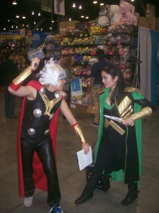 Thor and Loki, fighting as usual...