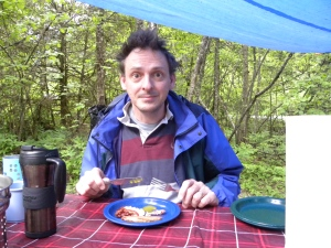 Yeah, this is how I look when camping. No one needs this in the mornings....