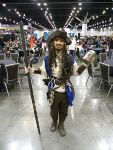The one, the only, Captain Jack Sparrow! Well, one of several that day, as it turned out...