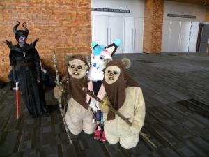 How does Luke Skywalker get across the road? Ewoks!