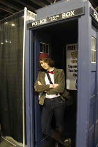 There's always a TARDIS at these things. Hey, maybe it's always the SAME TARDIS?