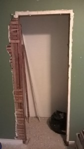How hard can it be, right? Oh...It's lath and plaster, not wall board...