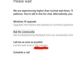 Microsoft wait times