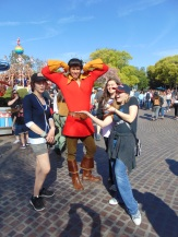 The girls found Gaston